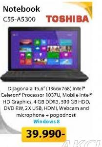 Notebook Satelitte C55-A5300