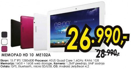 Tablet MemoPad HD 10 ME102A