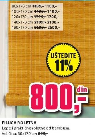 Roletna Filuca 100x170