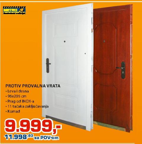 Protiv provalna vrata 96x205x7cm