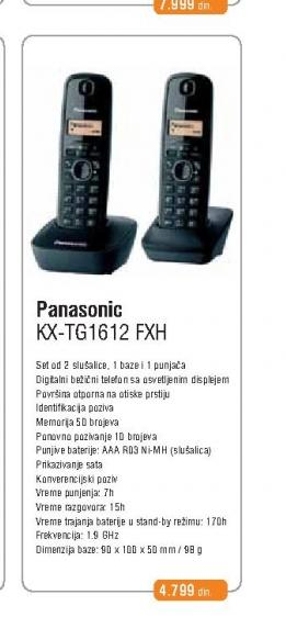 Fiksni Telefon KX-TG 1612