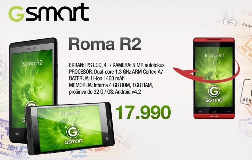 Mobilni telefon Gsmart Roma R2