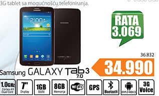 3Galaxy Tab 3 7.0