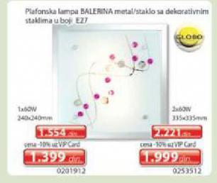 Plafonska lampa Balerina