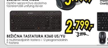 Bežična tastatura K360 US