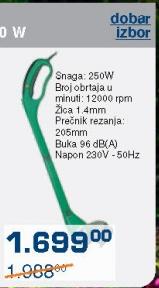 Električni trimer za travu Ferros 250W
