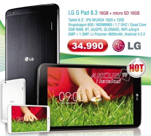 Tablet G Pad 8.3 16GB poklon micro SD 16GB