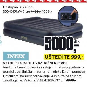 Vazdušni krevet Velour Comfort