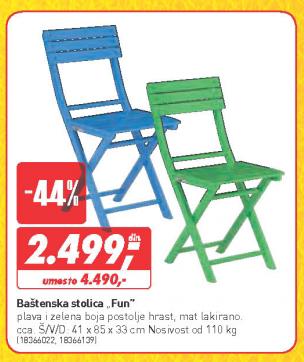 Baštenska stolica Fun