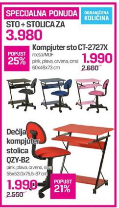 Kompjuter set sto + stolica