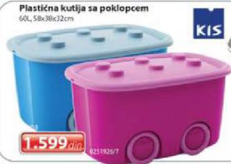 Plastična kutija sa poklopcem Kis