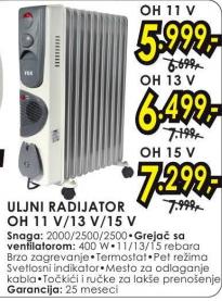 Uljni radijator OH 15 V