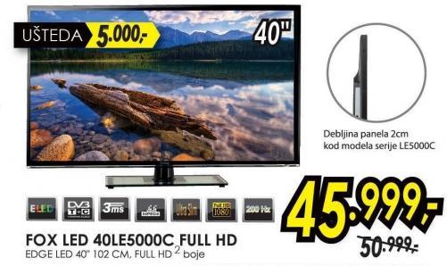 "Televizor LED 40"" 40le5000c"