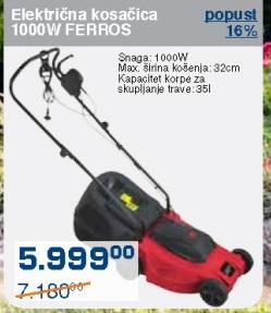 Električna kosačica Ferros