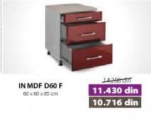 Kuhinjski element In Mdf D60f Bordo sjaj