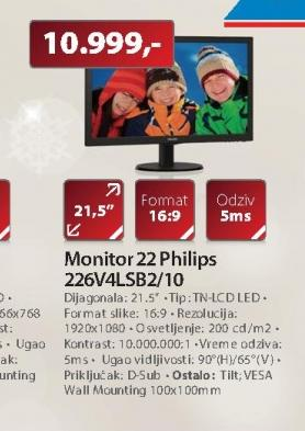 "Monitor 22"" 226V4LSB2/10"