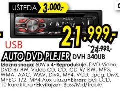 Auto DVD plejer Dvh 340ub