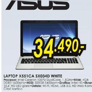 Laptop X551CA-SX034D