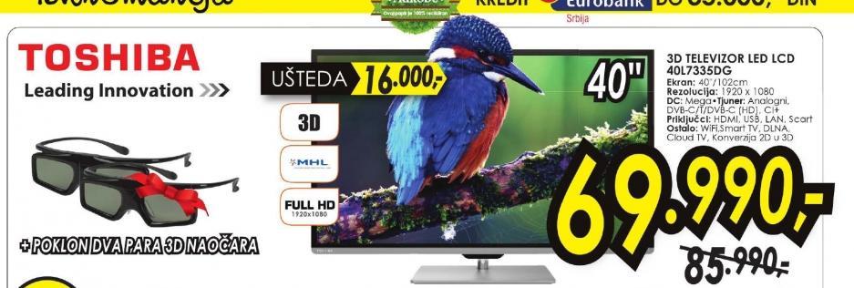 Televizor LED 40L7335DG