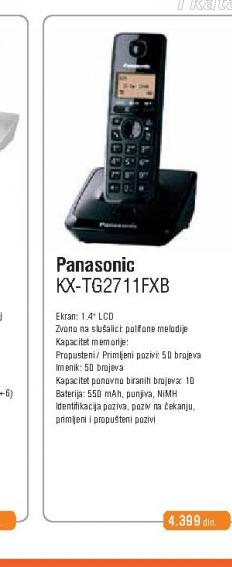 Fiksni Telefon KX-TG 2711 FXB