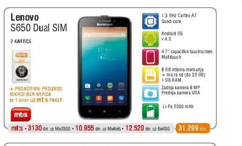 Mobilni telefon  S6500