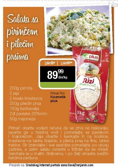 Recept - Salata sa pirinčem i pilećim prsima