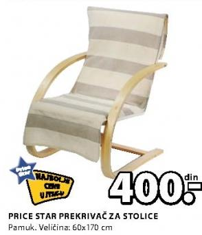 Prekrivač za stolice Price Star