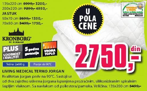 Jorgan living Medical Termo 200x220