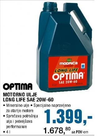 Motorno ulje Long Life SAE 20W-60