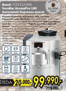 Aparat Za Espresso Tes 71121 Rw