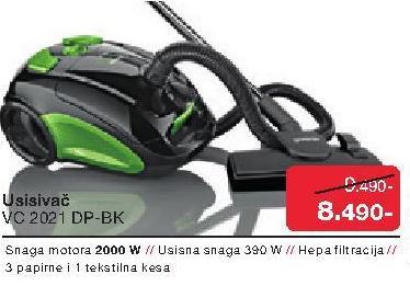 Usisivač VC 2021 DP-BK