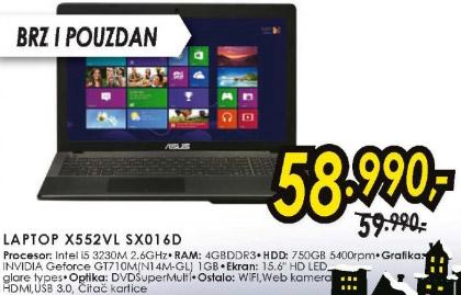 Laptop X552VL SX016D