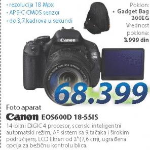 Fotoaparat Eos600D Efs 18.55Is