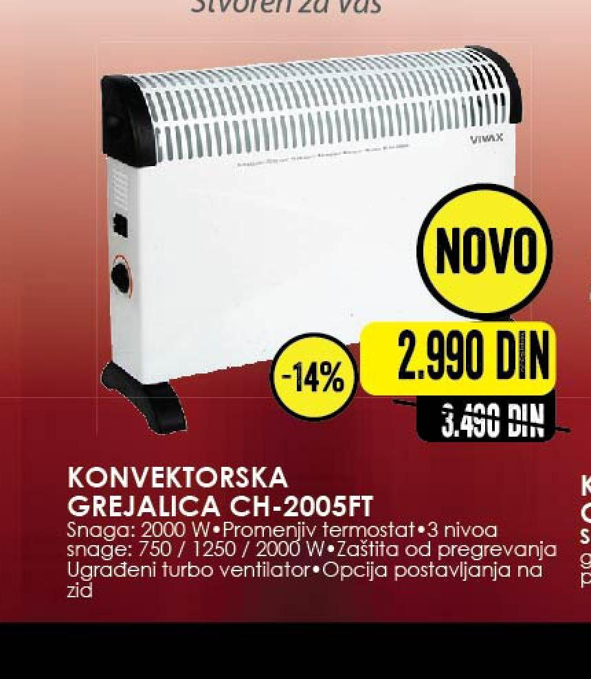 Grejalica CH 2005FT