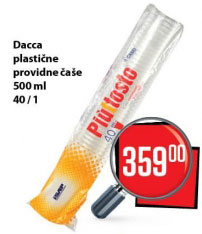Dacca Plastične providne čaše 500 ml 40/1