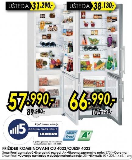 Kombinovani frižider Cu 4023