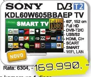 "Televizor LED 60"" Kdl60w605bbaep"