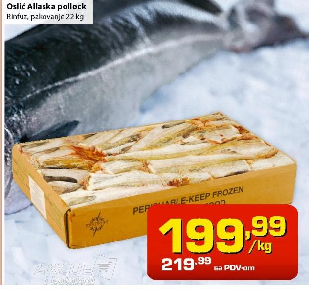 Smrznuta riba oslić