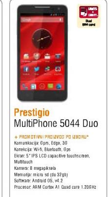 Mobilni telefon MultiPhone 5044 Duo