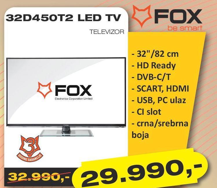 """Televizor LED 32"""" 32D450T2"""