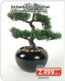 Veštačko drvo Bonsai u keramičkoj saksiji