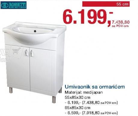 Umivaonik sa ormarićem 55cm Rossetti