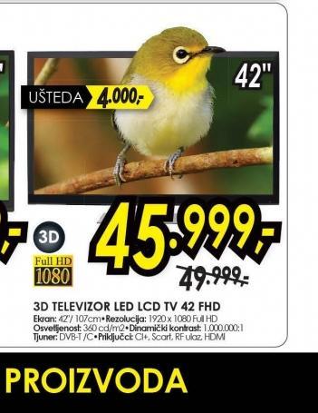 Televizor LED LCD TV 42 FHD