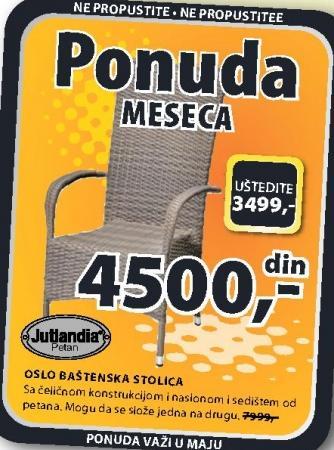 Baštenska stolica Oslo Jutlandia