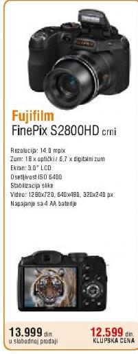 Digitalni fotoaparat FinePix S2800 HD