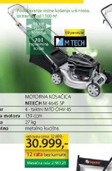 Motorna kosačica MTECH M4645