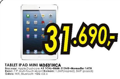 Tablet iPad Mini MD531HC/A