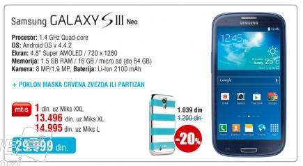 Mobilni telefon Galaxy S III Neo