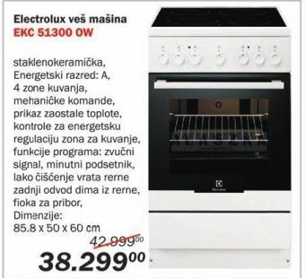 Električni šporet Ekc 51300 Ow