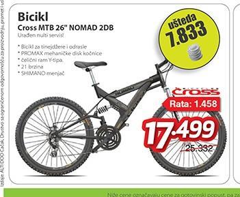 """Bicikl MTB 26"""" NOMAD 2DB"""
